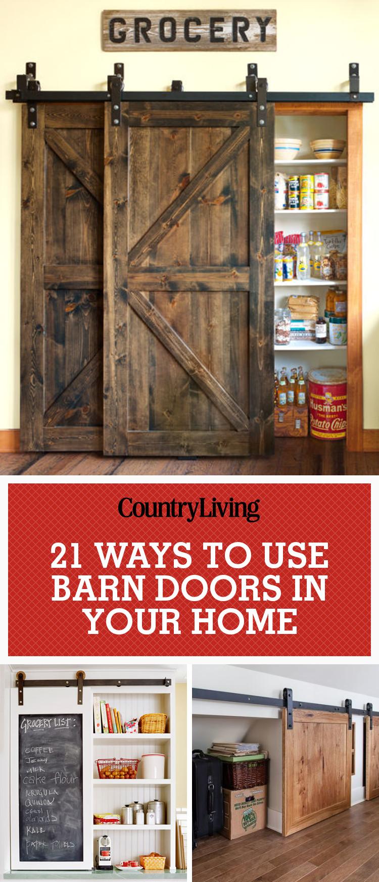 20+ Best Barn Door Ideas — Ways To Use A Barn Door
