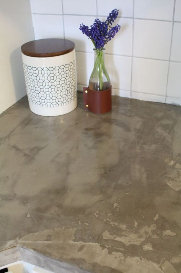 Good This Brilliant DIY Is The Easiest Way To Fake Concrete Countertops