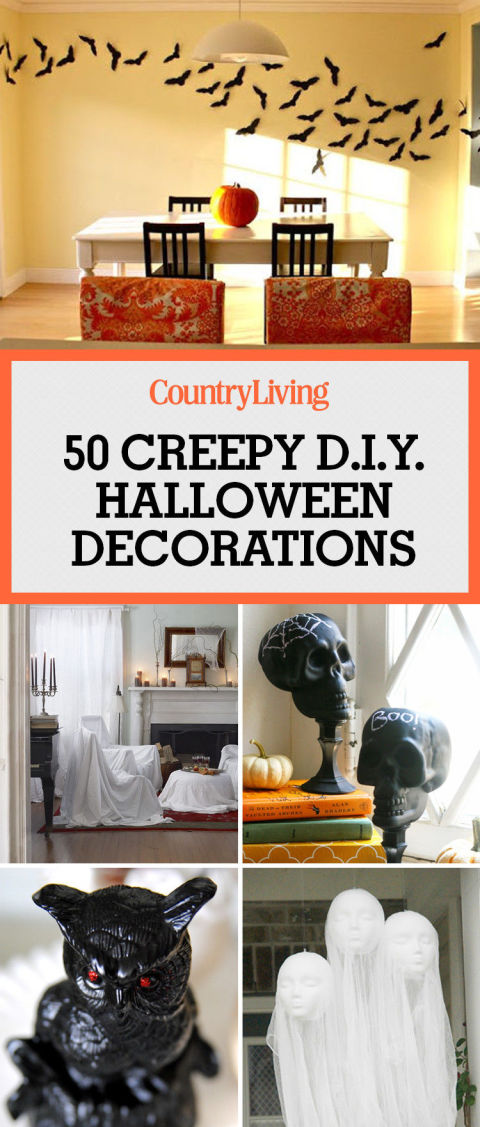50 creepy halloween decorations you can diy - At Home Halloween Decorations