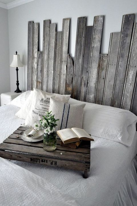 Headboard - 22 DIY Reclaimed Wood Projects - Crafts With Repurposed Wood Ideas