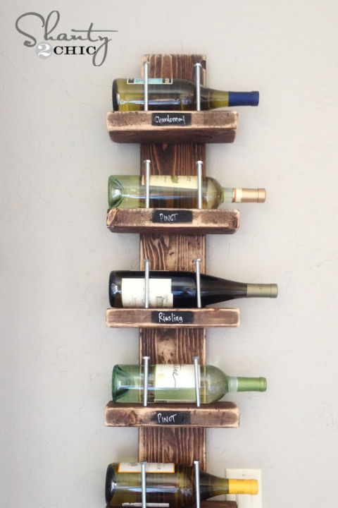 Wine Rack - 22 DIY Reclaimed Wood Projects - Crafts With Repurposed Wood Ideas