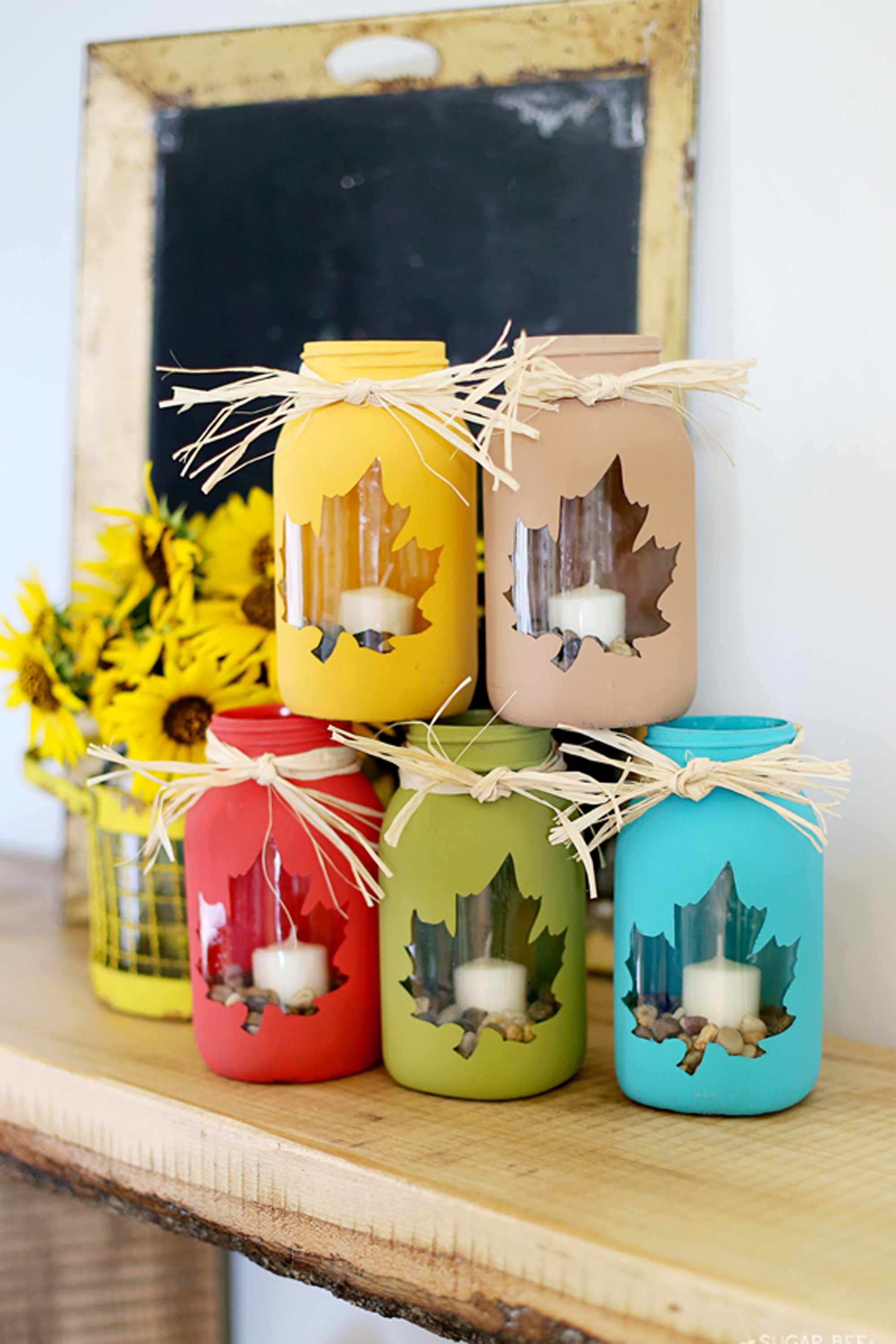 Craft 30 Mason Jar Fall Crafts Autumn Diy Ideas With Mason Jars