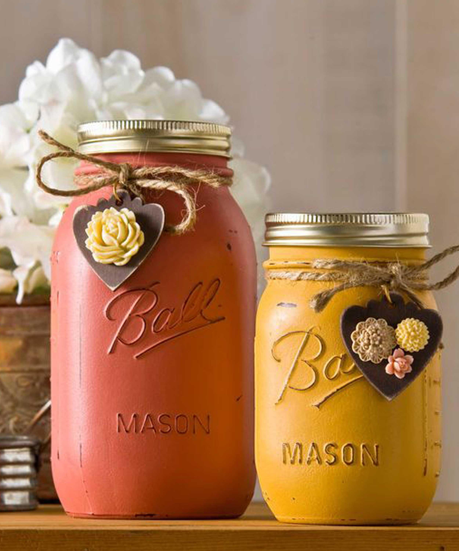 Mason Jar Projects 30 Mason Jar Fall Crafts Autumn Diy Ideas With Mason Jars