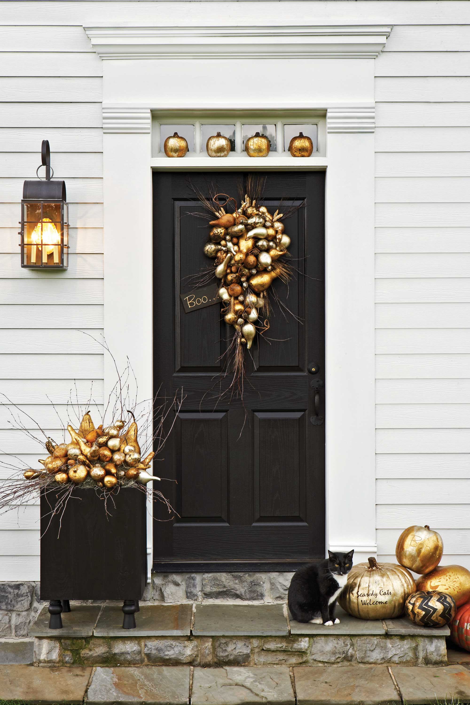 35 best outdoor halloween decoration ideas easy halloween yard and porch decor - Halloween Front Doors