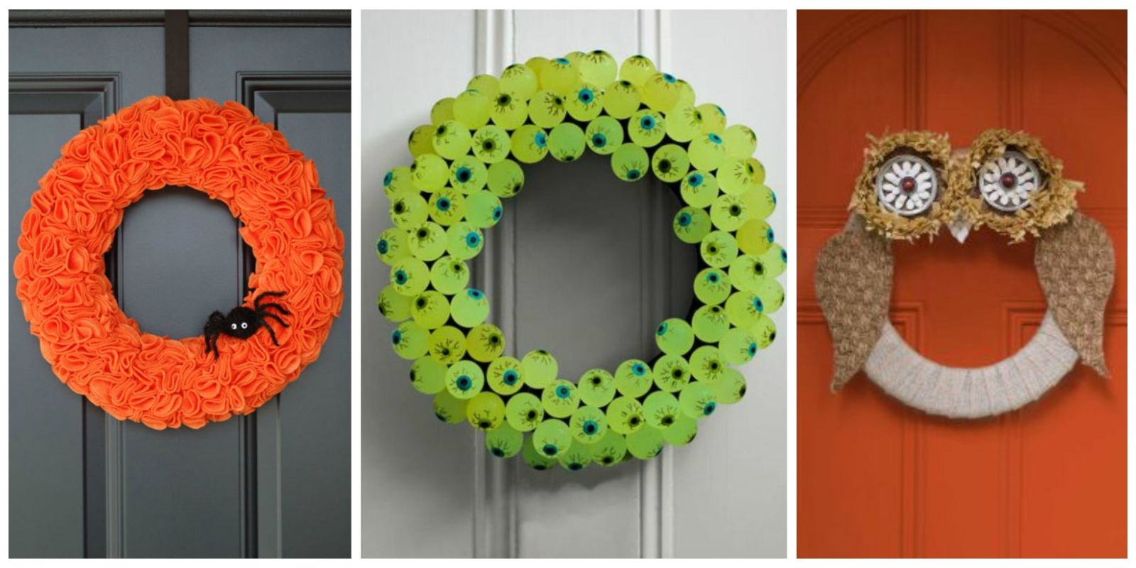 30 diy halloween wreaths how to make halloween door decorations ideas - Homemade Ideas For Halloween