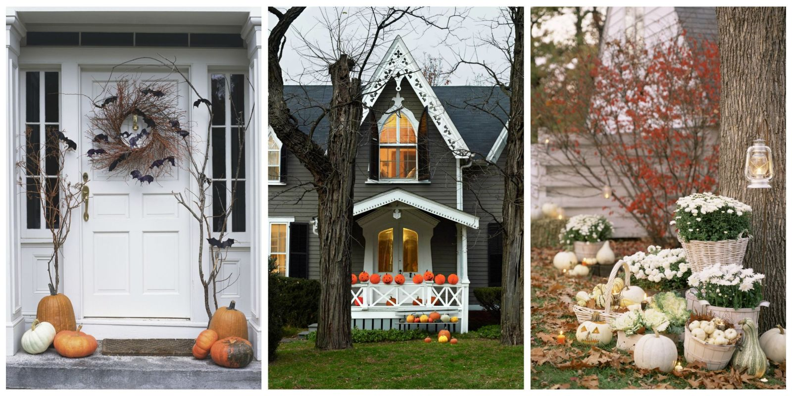 30 best outdoor halloween decoration ideas easy halloween yard and porch decor - Interesting diy halloween wreaths home ...