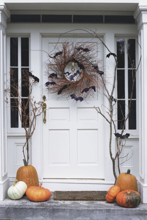 batty front door - Halloween Front Doors