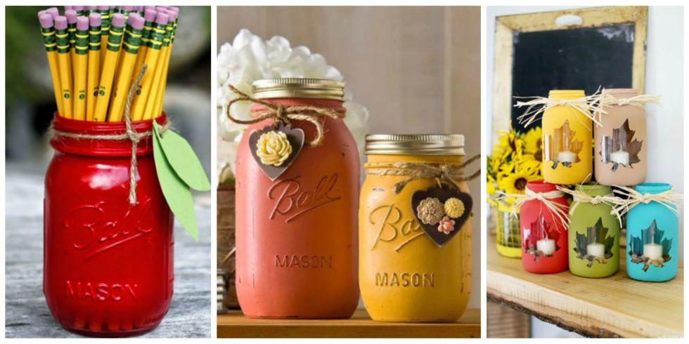 30 Mason Jar Fall Crafts - Autumn DIY Ideas with Mason Jars
