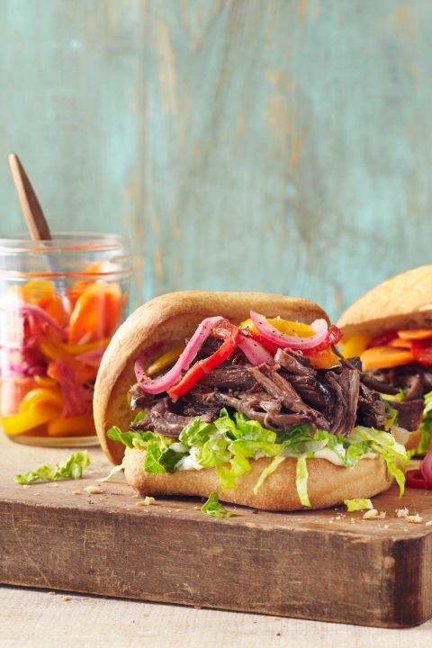 Your slow cooker does all the work for these tender roast beef sandwiches. Add a tablespoon of horseradish or wasabi to the mayo for a little extra kick. Get the recipe. Tools you'll need:$21, Crock-Pot 7-Quart Stainless Steel,amazon.com