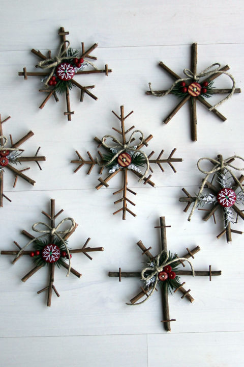 Homemade Christmas tree ornaments.