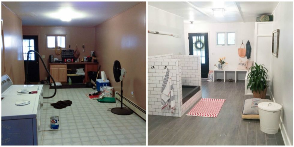 After A Total Overhaul, Itu0027s Now A Dog Friendly Area That Also Functions As  A Laundry And Storage Room.