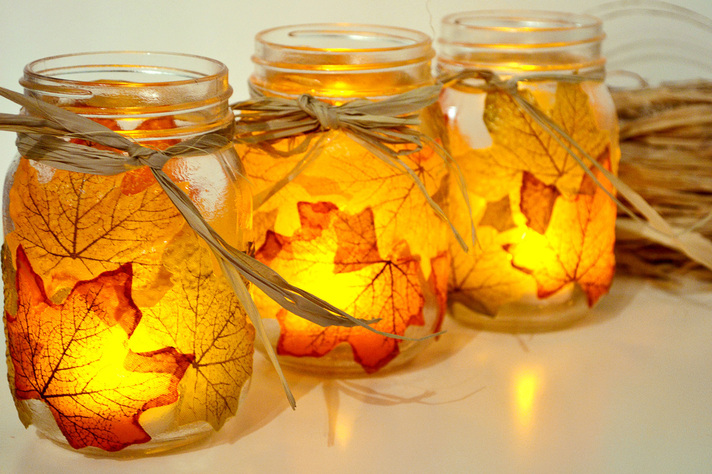 25 mason jar fall crafts autumn diy ideas with mason jars for Fall diy crafts pinterest