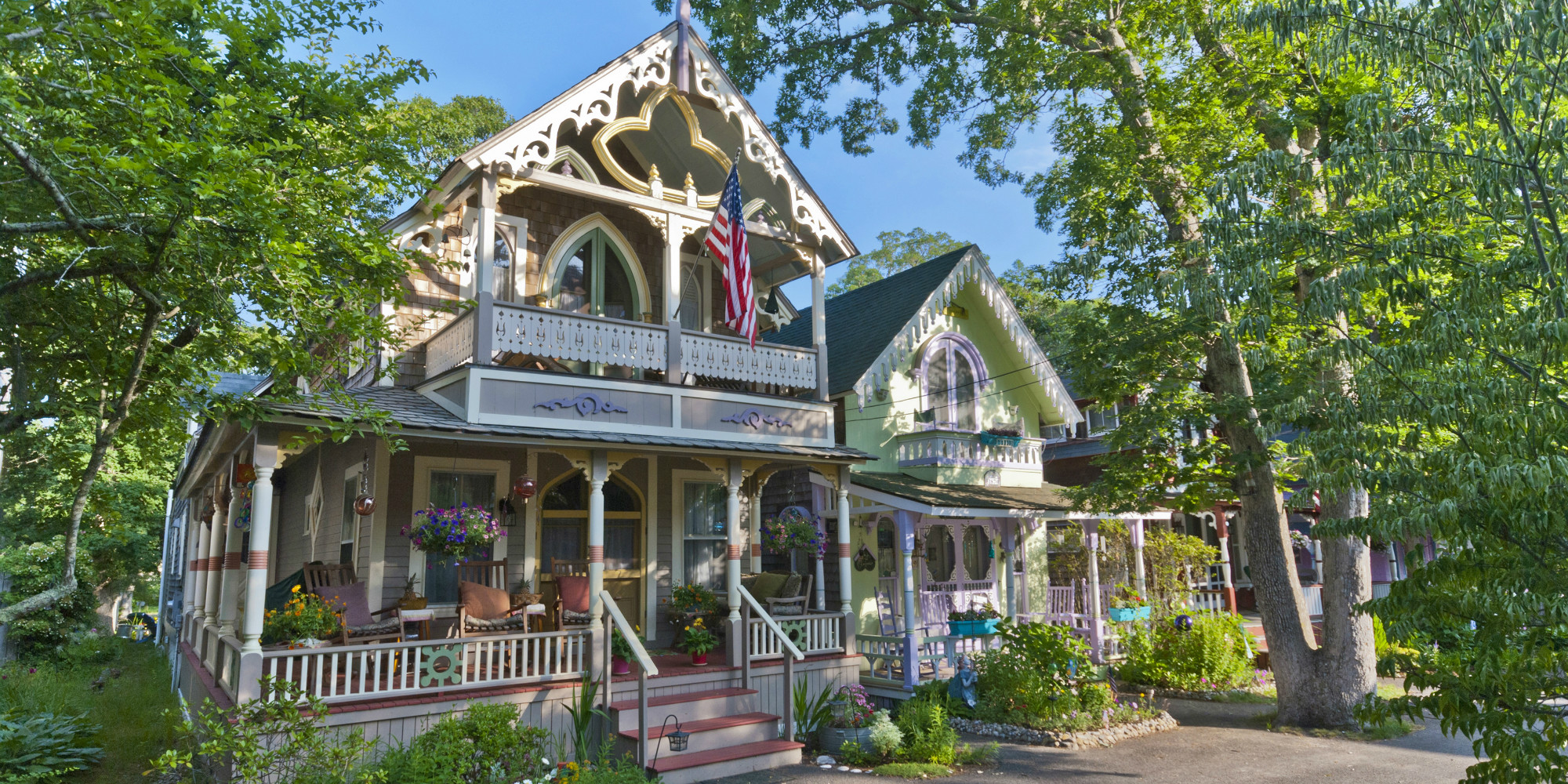 The History Of Martha S Vineyard Gingerbread Houses Oak