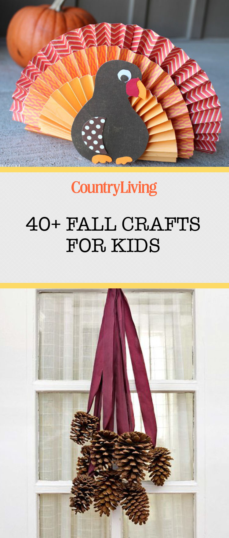 45 fall crafts for kids fall activities and project for Fall diy crafts pinterest