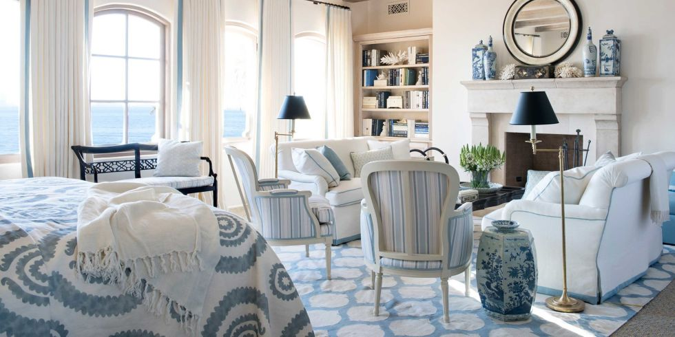 Blue And White Living Room Decorating Ideas blue and white rooms  decorating with blue and white
