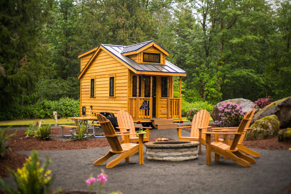 Outstanding Mt Hood Tiny House Village Tour Oregon Tiny House Rentals Largest Home Design Picture Inspirations Pitcheantrous
