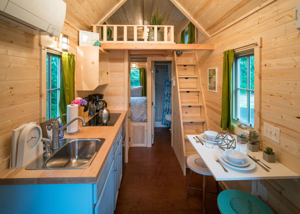 tiny house tour - Tumbleweed Tiny House Interior