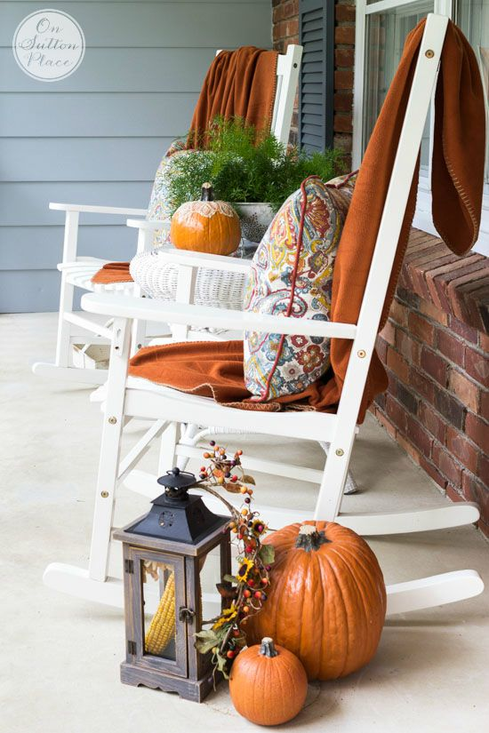 Porch Decor 37 fall porch decorating ideas - ways to decorate your porch for fall