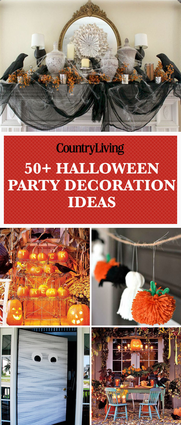 56 fun halloween party decorating ideas spooky halloween party decor - Scary Halloween Party Decoration Ideas