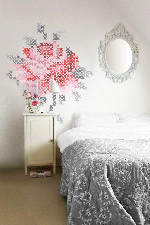 Вышивка на стене рисунок