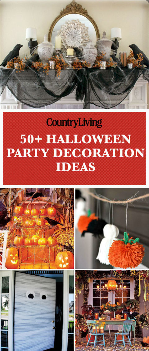 pin this image - Halloween Party Decoration Ideas