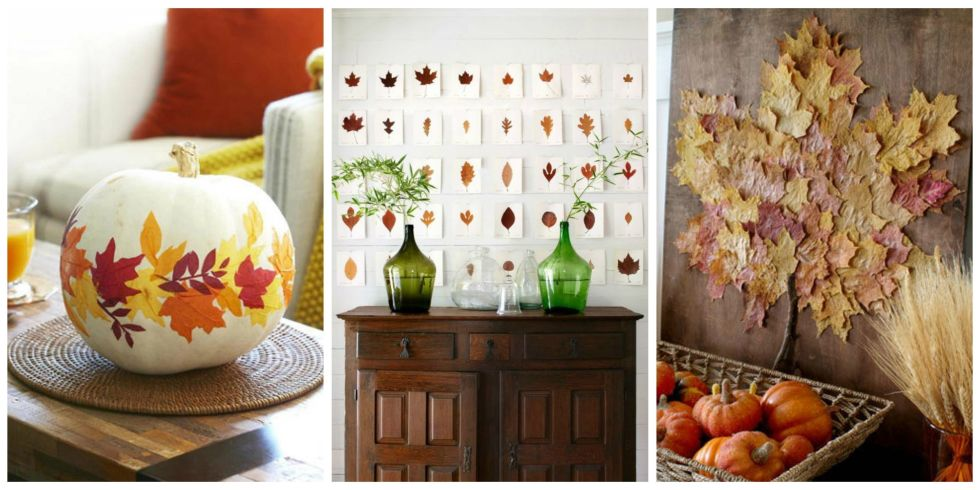 Fall Leaf Crafts Diy Decorating Projects With Leaves