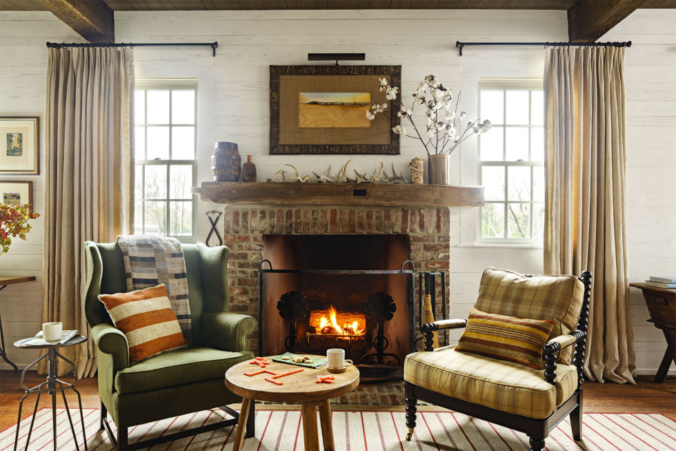 You can quickly transform the feeling of a room by trading out pillows. Opt for plaids and strips with deep hues to add a more autumnal vibe.