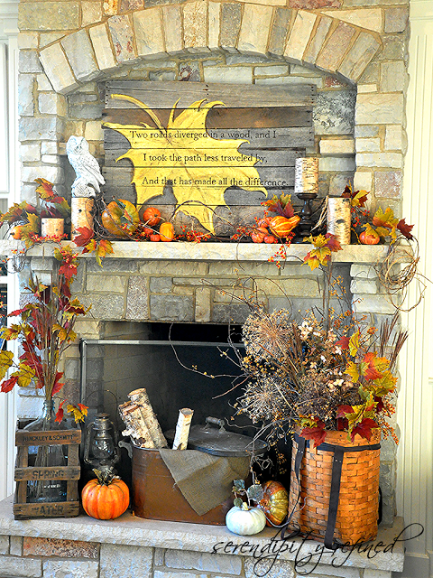 35 Fall Mantel Decorating Ideas - Halloween Mantel Decorations