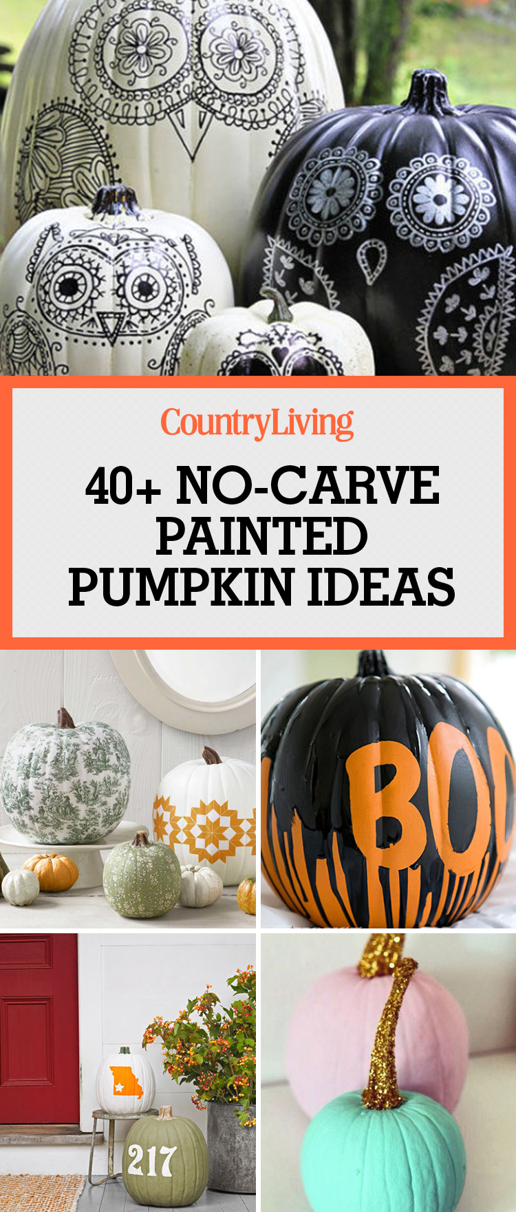 57 Easy Painted Pumpkins Ideas - No Carve Halloween Pumpkin ...