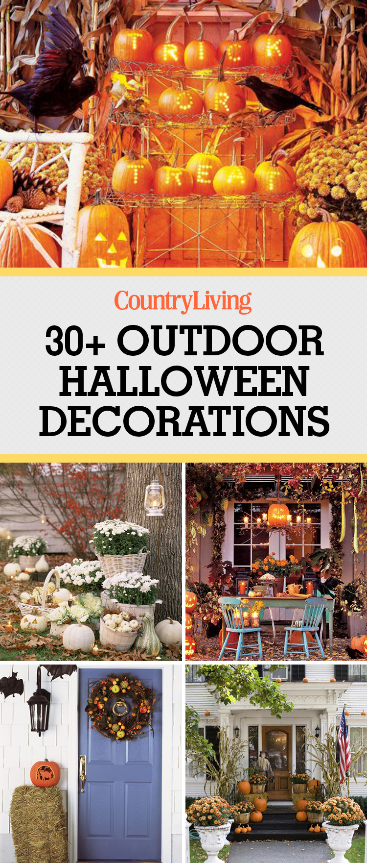 35 Best Outdoor Halloween Decoration Ideas - Easy Halloween Yard ...