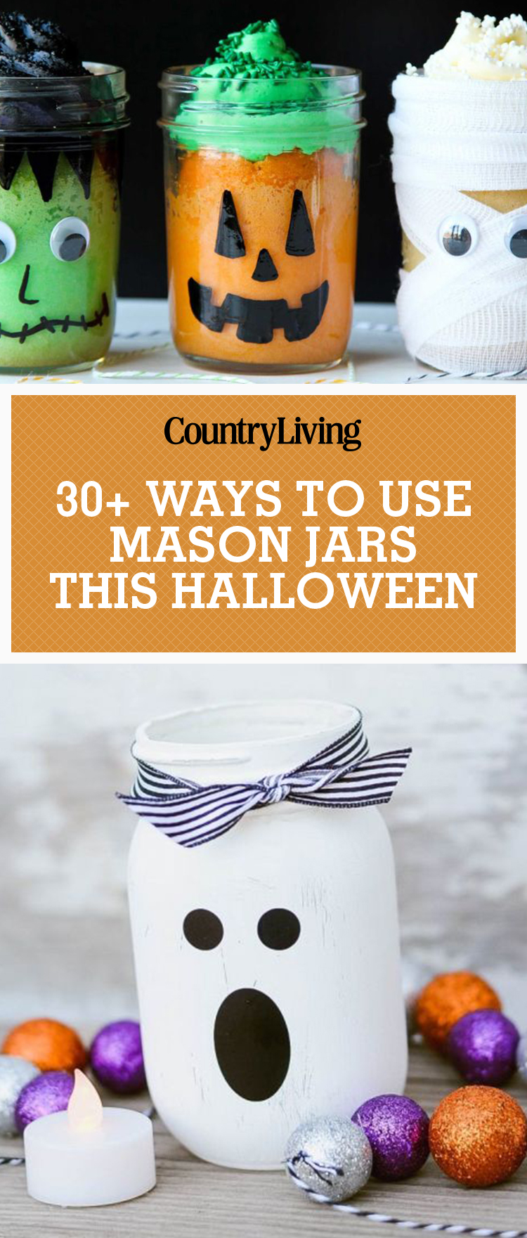 35 halloween mason jars craft ideas for using mason jars for halloween - Craft Halloween Decorations