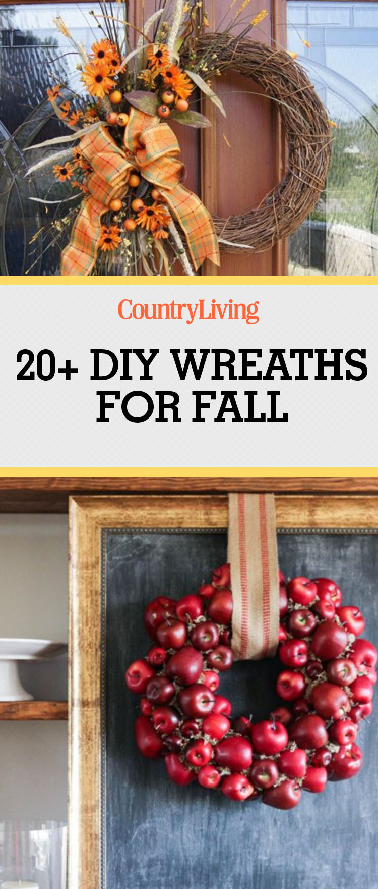 Fall Door Wreath Ideas Part - 48: Country Living Magazine