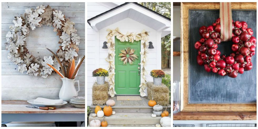 40 Gorgeous Fall Wreaths to Grace Your Front Door & 39 DIY Fall Wreaths - Ideas for Autumn Wreath Crafts pezcame.com