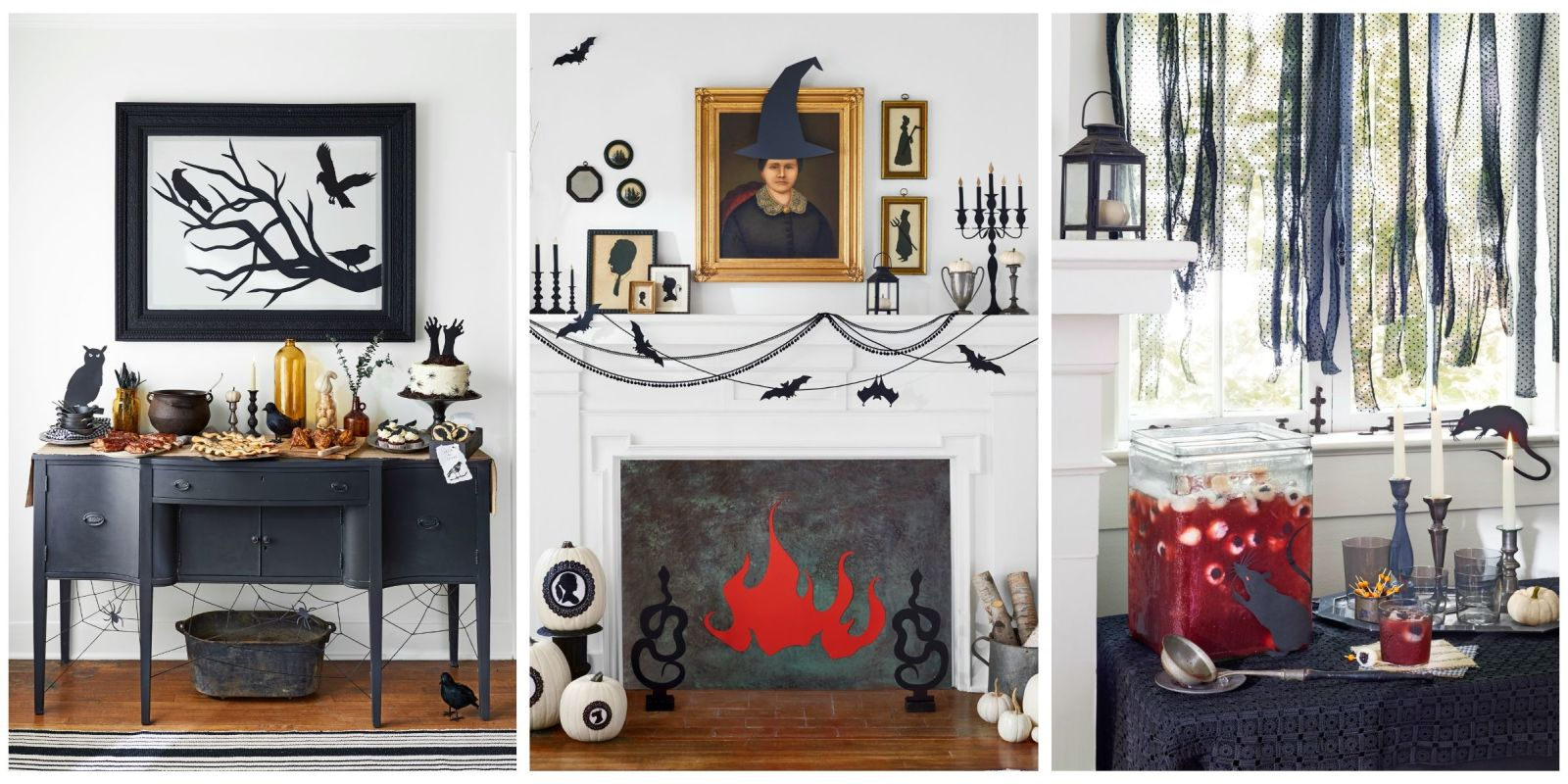 56 fun halloween party decorating ideas spooky halloween for How to decorate your house for halloween inside