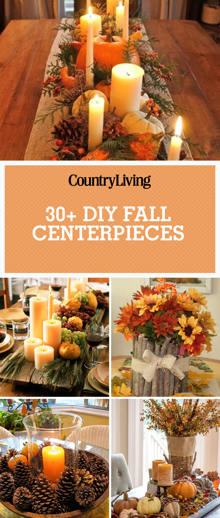 38 fall table centerpieces autumn centerpiece ideas Cheap thanksgiving table setting ideas