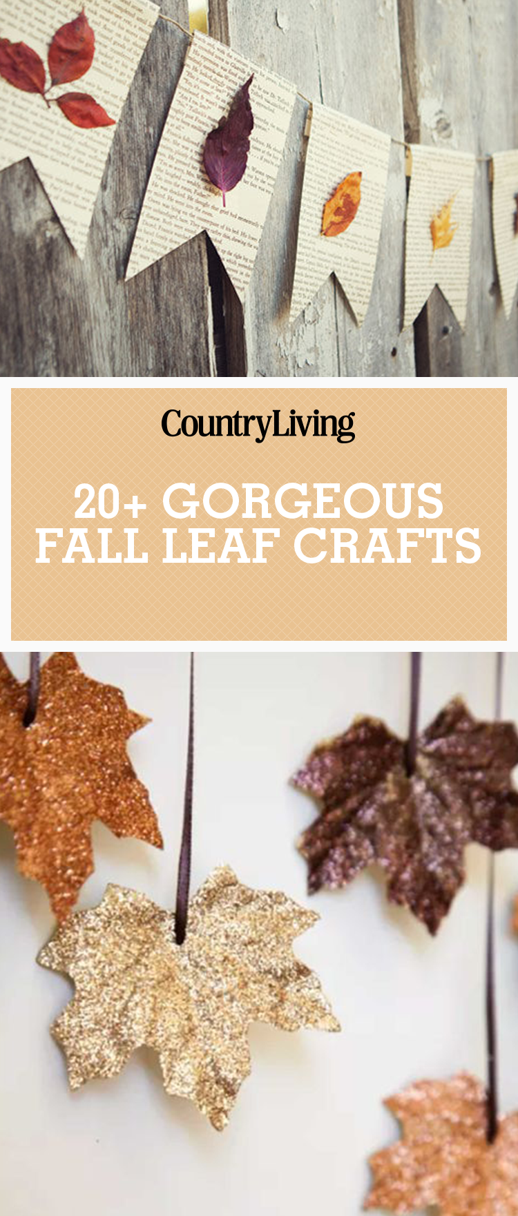 30 fall leaf crafts diy decorating projects with leaves for Fall diy crafts pinterest