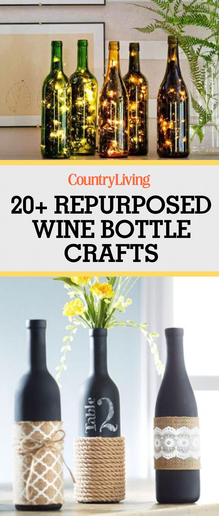 24 diy wine bottle crafts empty wine bottle decoration ideas for Diy wine bottle crafts pinterest