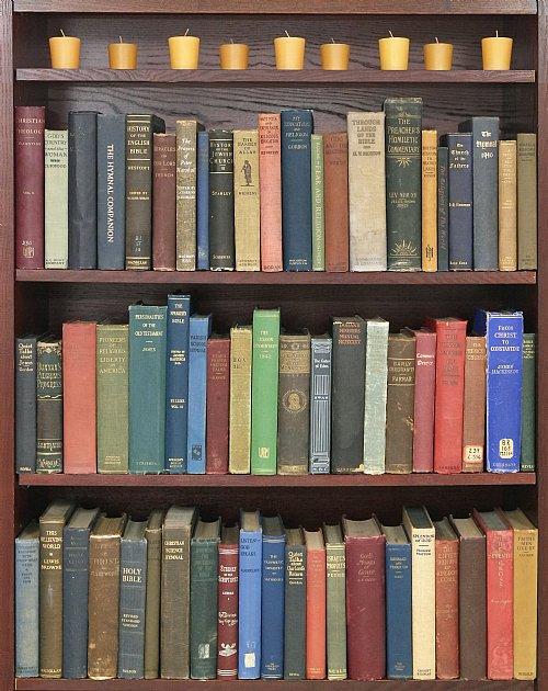 fake books for bookcase