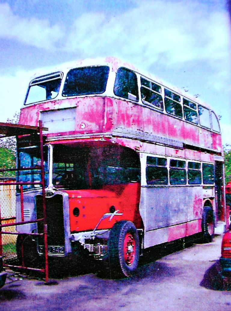 husband buys wife the bus they met on vintage bus restoration