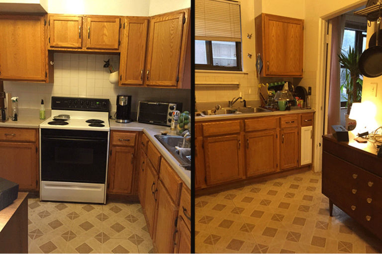 Kitchen Renovation Pictures you won't believe that this kitchen renovation only costs $100