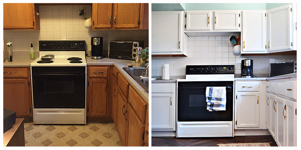 Home Makeover Ideas you won't believe that this kitchen renovation only costs $100