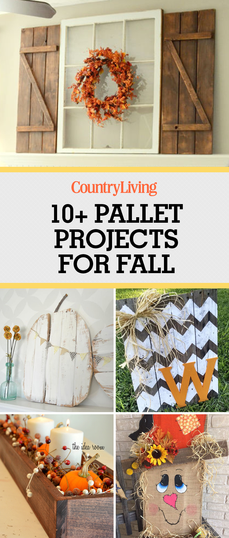 Fall pallet projects crafts for fall using wood pallets for Diy crafts with pallets