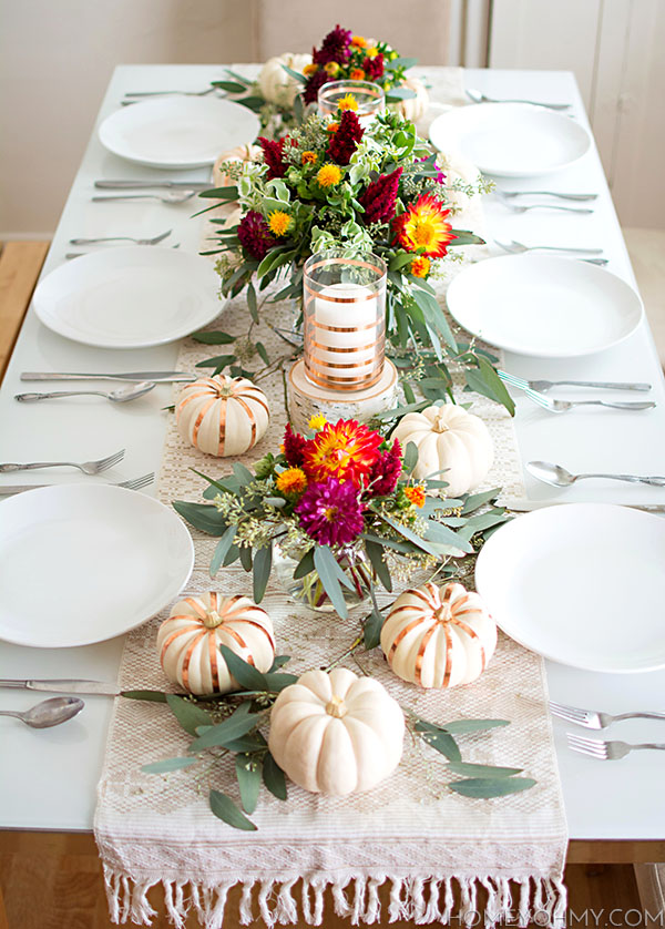 40 thanksgiving table settings - thanksgiving tablescapes