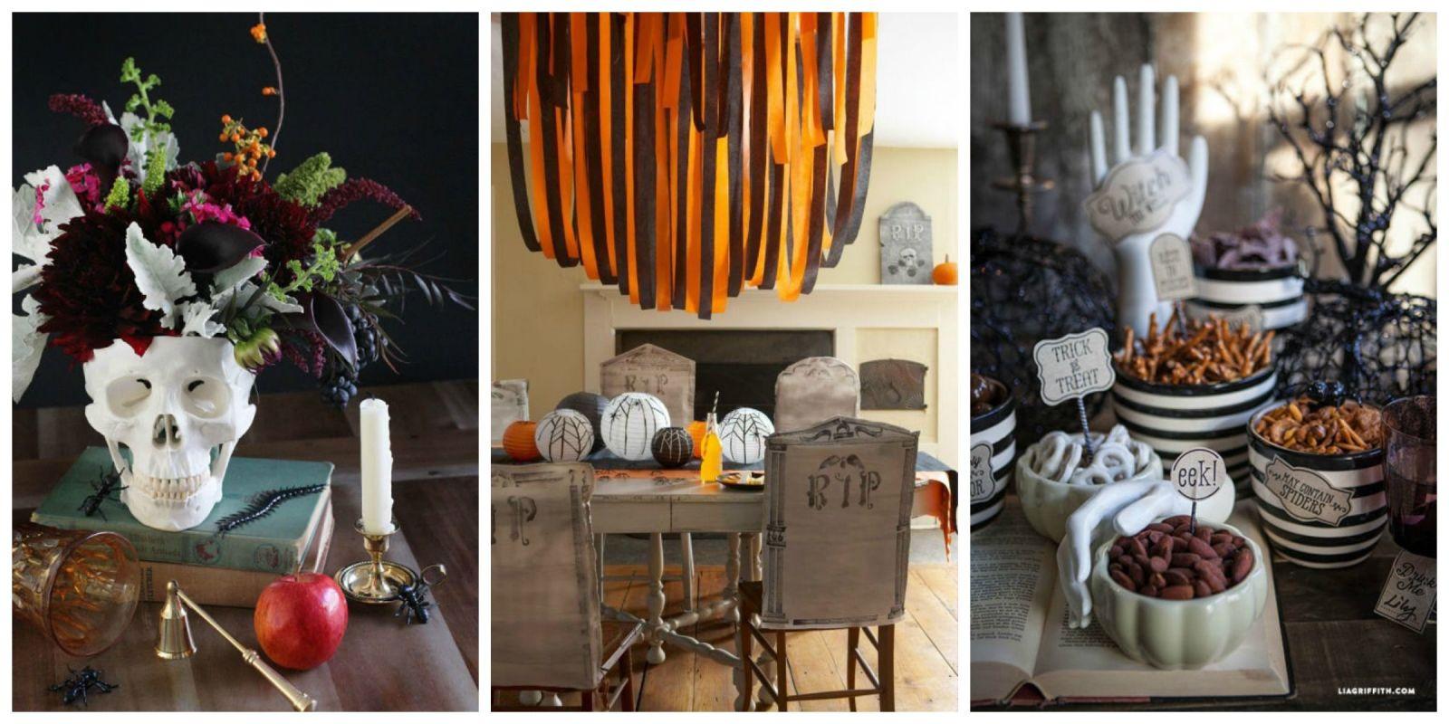 Halloween food table decorations - 17 Halloween Centerpieces Table Decorations Diy Ideas For Halloween Themed Tables