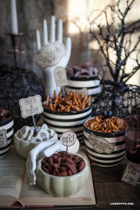 party with printables - Halloween Centerpieces