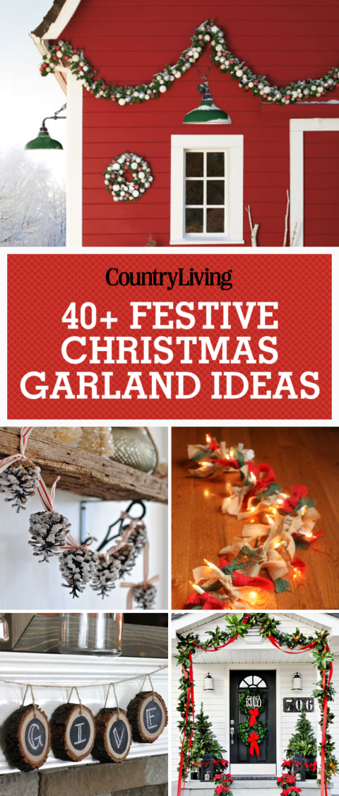55 christmas garland ideas - decorating with holiday garlands