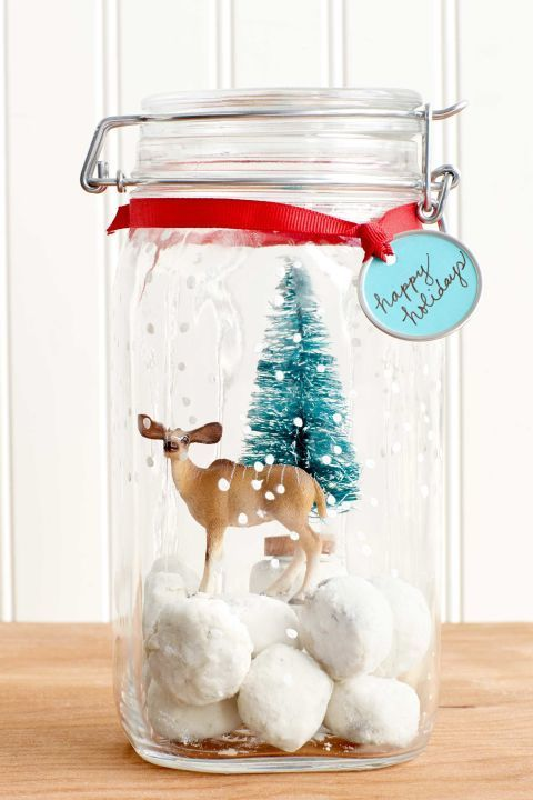 Christmas Crafts For Family Part - 23: Snow Globe Cookie Jar