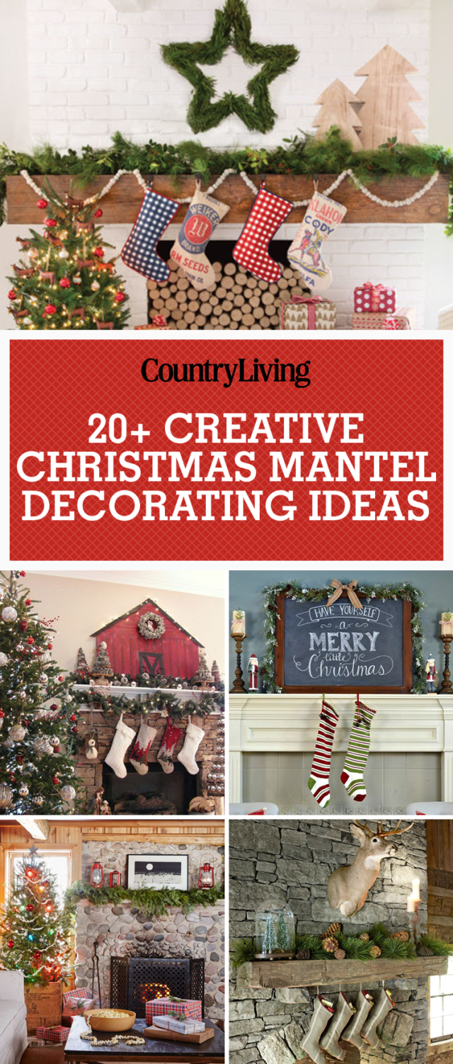 Country christmas mantel decor - 35 Christmas Mantel Decorations Ideas For Holiday Fireplace Mantel Decorating