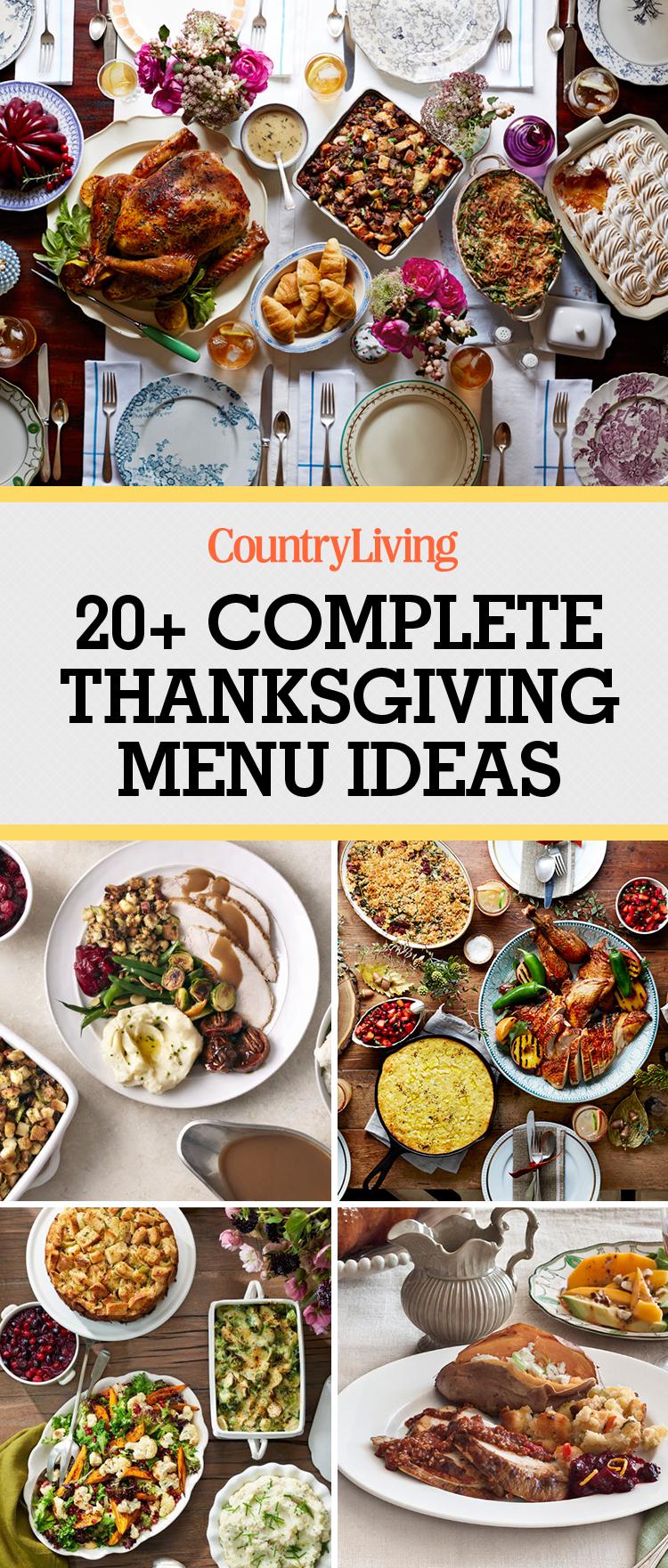 Thanksgiving menu ideas dinner recipes