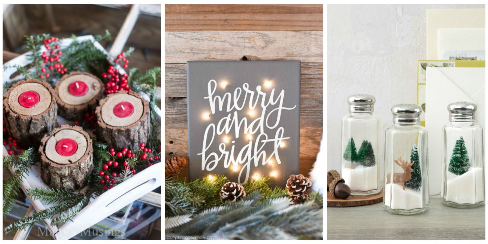 35 diy homemade christmas decorations christmas decor for Home christmas decorations ideas